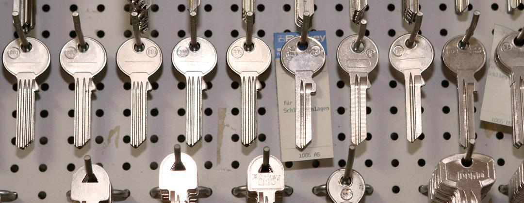 Verschiedene Schlüsselrohlinge